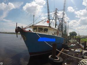 Used Custom 68 Shrimper Commercial Boat For Sale