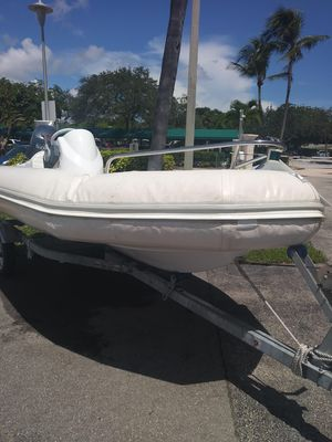Used Zodiac Yachtline Deluxe 420 Tender Boat For Sale