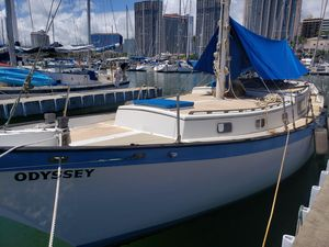 Used Downeast Auxiliary Cutter Cruiser Sailboat For Sale