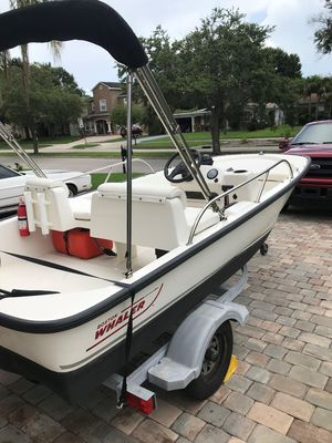 Used Boston Whaler 13 Sport Center Console Fishing Boat For Sale