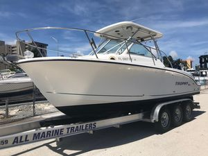 Used Trophy 2502 Walkaround Center Console Fishing Boat For Sale