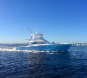 Used Custom Carolina Gwaltney 54 Single Diesel Convertible Fishing Boat For Sale