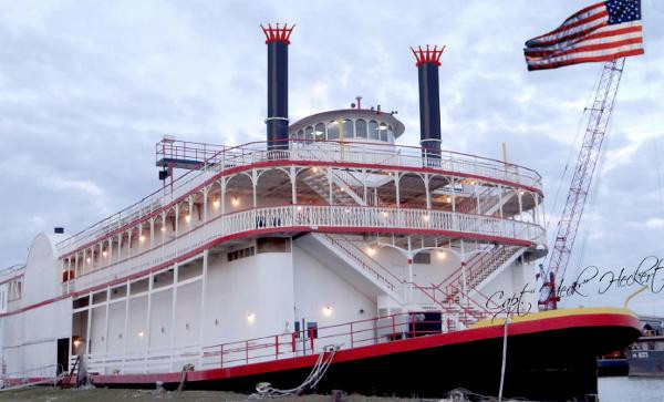 "Used American ""side-Wheel"" Design River Cruise/casino Vessel Cruise Ship Boat For Sale"