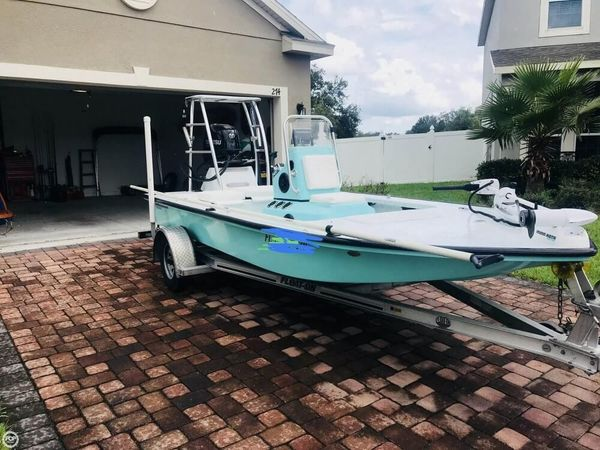 Used Bossman 16 skimmer Flats Fishing Boat For Sale