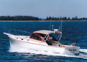 Used Atlantic BHM 36 Downeast Softtop Cruiser Downeast Fishing Boat For Sale