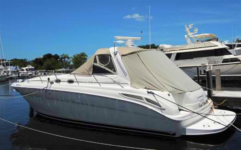 Used Sea Ray 380 Diesel W/very Low Hours Express Cruiser Boat For Sale