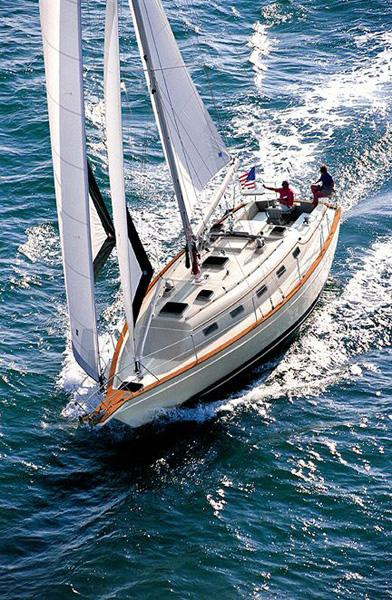 Used Island Packet Yachts 370 Racer and Cruiser Sailboat For Sale