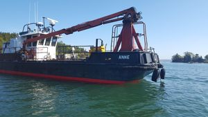 Used Custom Self Propelled Fuel Barge With Crane Cargo Ship Boat For Sale