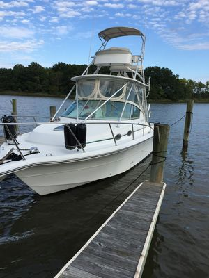Used Stamas Express Hardtop W Tower Sports Fishing Boat For Sale