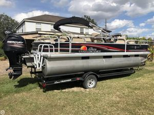 Used Sun Tracker 22 Fishin Barge DLX Pontoon Boat For Sale
