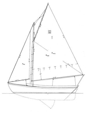 Used Daysailer ERIC Dow Haven 12 1/2 Sloop Daysailer Sailboat For Sale