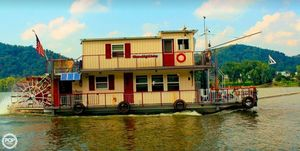 Used Custom 56' Sternwheeler House Boat For Sale