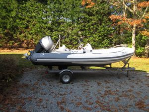 Used Zodiac Yachtline 470 Rigid Sports Inflatable Boat For Sale