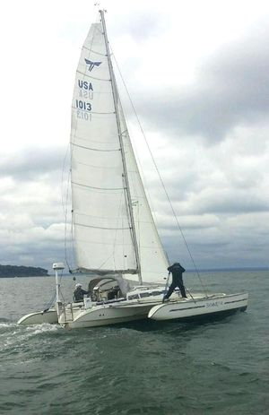 Used Dragonfly 1000 Swing Wing Trimaran Sailboat For Sale