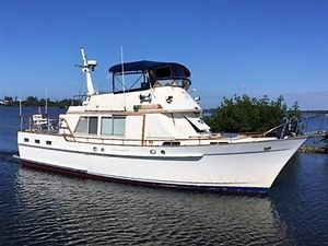 Used Island Gypsy 44 Flush Aft Deck Trawler Boat For Sale