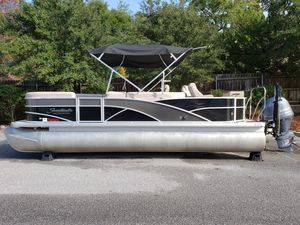 Used Sweetwater Premium Edition 220 DFS Pontoon Boat For Sale