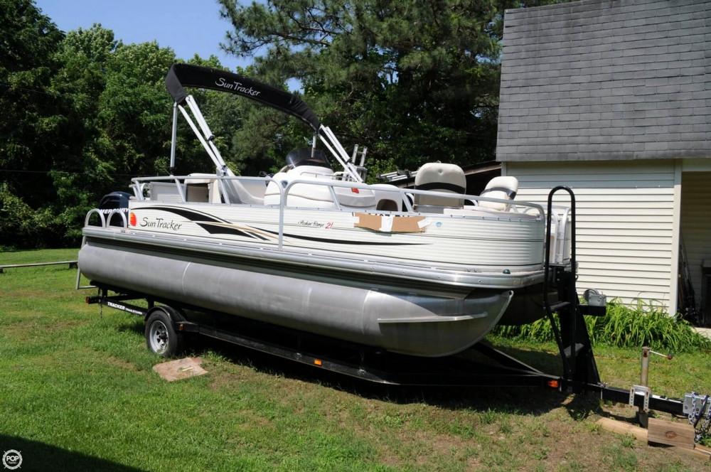 2008 used sun tracker 21 fishin barge pontoon boat for for Used fishing pontoon boats for sale