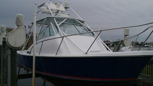 Used Carolina Classic Just Lowered - Raised Helm Deck Express Cruiser Boat For Sale