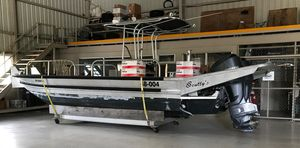 Used Sculley Aluminum Boat Center Console Fishing Boat For Sale