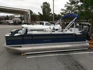 New Crest I Fish 220 Pontoon Boat For Sale