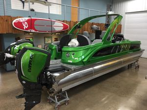 New Manitou 25 X-plode XT RFX SHP Dual Pontoon Boat For Sale