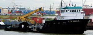 Used Moss Point Offshore Supply Vessel Barge Boat For Sale