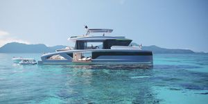 New Lazzara Corona 85 Power Catamaran Boat For Sale
