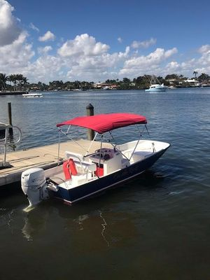 Used Boston Whaler 17 Montauk Center Console Fishing Boat For Sale