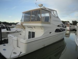 Used Carver 41 Cockpit Mint (LOW Hours) Freshwater Fishing Boat For Sale