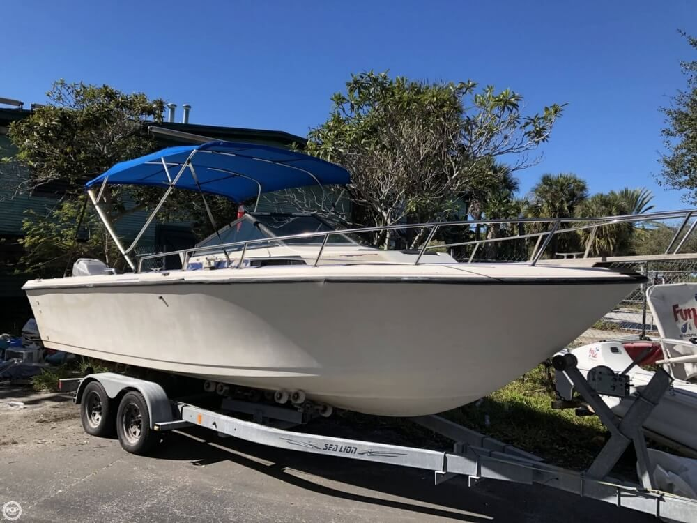 Proline Boats For Sale >> 1988 Used Pro Line 23 Cc Walkaround Fishing Boat For Sale