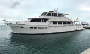 Used Marlow 80 Enclosed Flybridge Mega Yacht For Sale