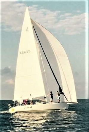Used J Boats 105 Deep Draft Racer and Cruiser Sailboat For Sale