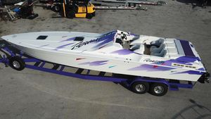 Used Power Play 33 Sport Deck High Performance Boat For Sale