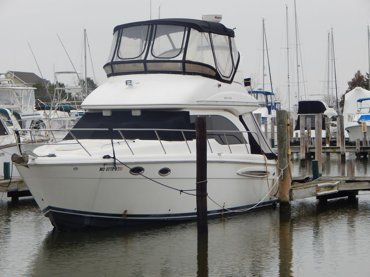 2004 Used Meridian 341 Sedan Convertible Fishing Boat For Sale