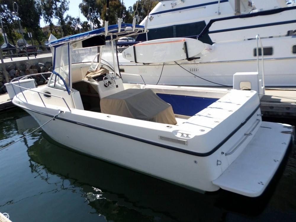 1998 used shamrock 246 walkaround fishing boat for sale for Used fishing boats for sale in california