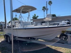 Used Shallow Sport 21 Modified V Saltwater Fishing Boat For Sale