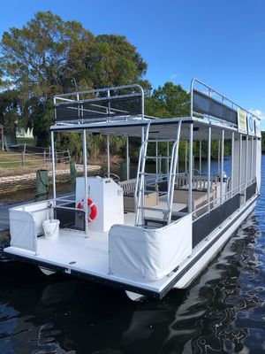 Used Pontoon A&M Double Decker Power Catamaran Boat For Sale