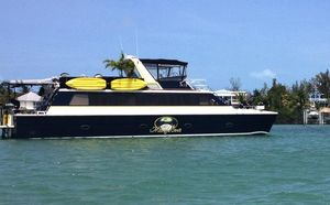 Used Carri-Craft 60 Power Cat Houseboat Power Catamaran Boat For Sale