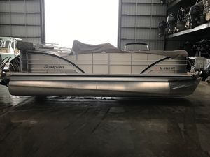 Used Sanpan SP 2200SP 2200 Pontoon Boat For Sale