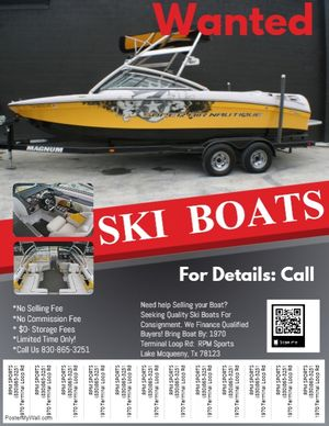 Used Natique Super Air Ski and Wakeboard Boat For Sale