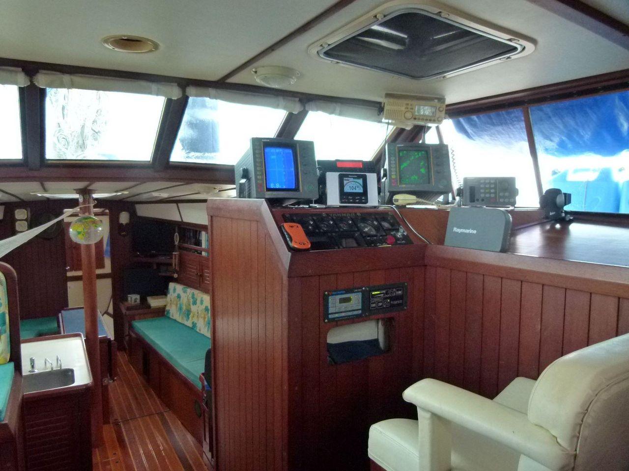 1998 Used Bruce Roberts Pilothouse 43 Pilothouse Sailboat