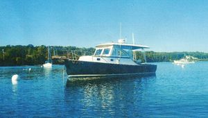 Used Ellis Hardtop Express Cruiser Downeast Fishing Boat For Sale