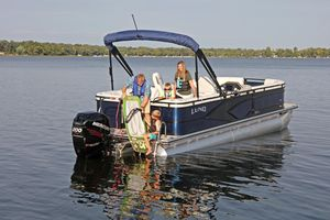 Used Lund LX 240 Pontoon Boat For Sale