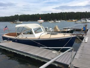 Used Dyer Flush Deck Softtop Cruiser Downeast Fishing Boat For Sale