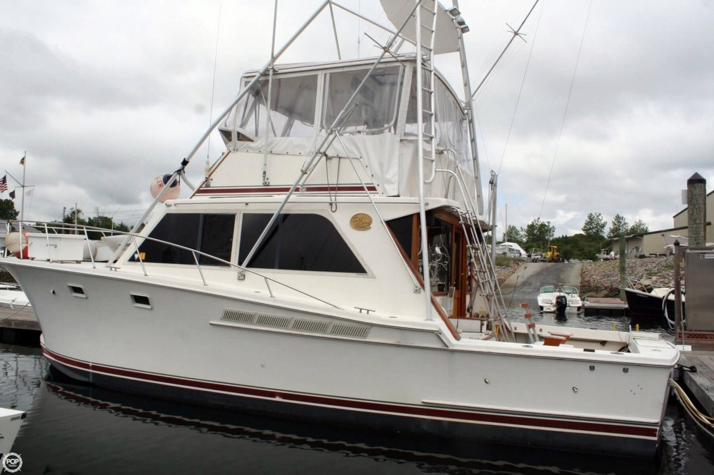 1985 used jersey 40 dawn sports fishing boat for sale for Fishing boats for sale nj