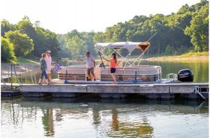 New Sun Tracker PARTY BARGE 22 w/ Mercury 115Hp 4S Pro XSPARTY BARGE 22 w/ Mercury 115Hp 4S Pro XS Pontoon Boat For Sale