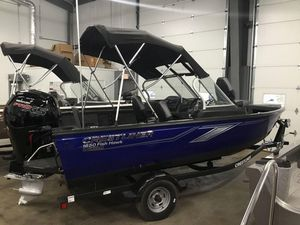New Crestliner 1650 Fish Hawk Walk-through JS1650 Fish Hawk Walk-through JS Aluminum Fishing Boat For Sale