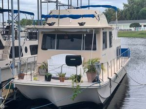 Used Holiday Mansion 36 Barracuda Flybridge House Boat For Sale