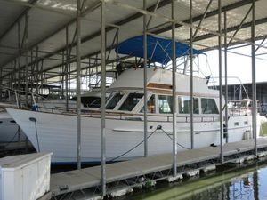 Used Island Gypsy 44 Flush Deck Trawler Boat For Sale