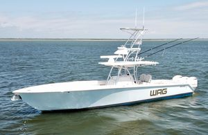 Used Jupiter 38 Cuddy/tower/trips Center Console Fishing Boat For Sale